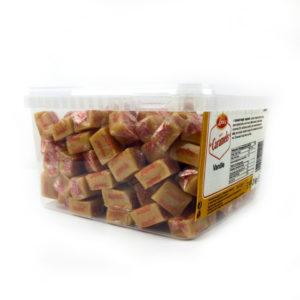 Caramelle Toffee alla vaniglia incartate in confezione Lonka