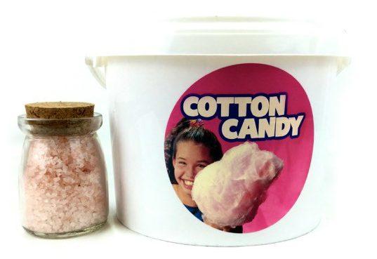 zucchero filato all'ingrosso: barattolo flossugar con vasetto di zucchero speciale colorato rosa
