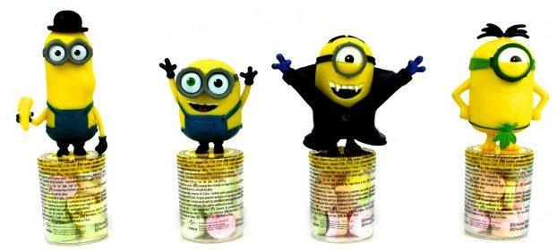 giocattoli con caramelle all'ingrosso: candy topper Minions
