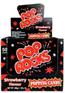 Pop Rocks fragola espositore 50 Pz x 7g
