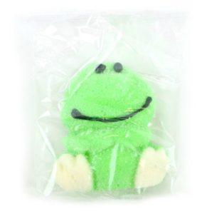 Soggetti di marshmallow 3D: ranocchio verde seduto