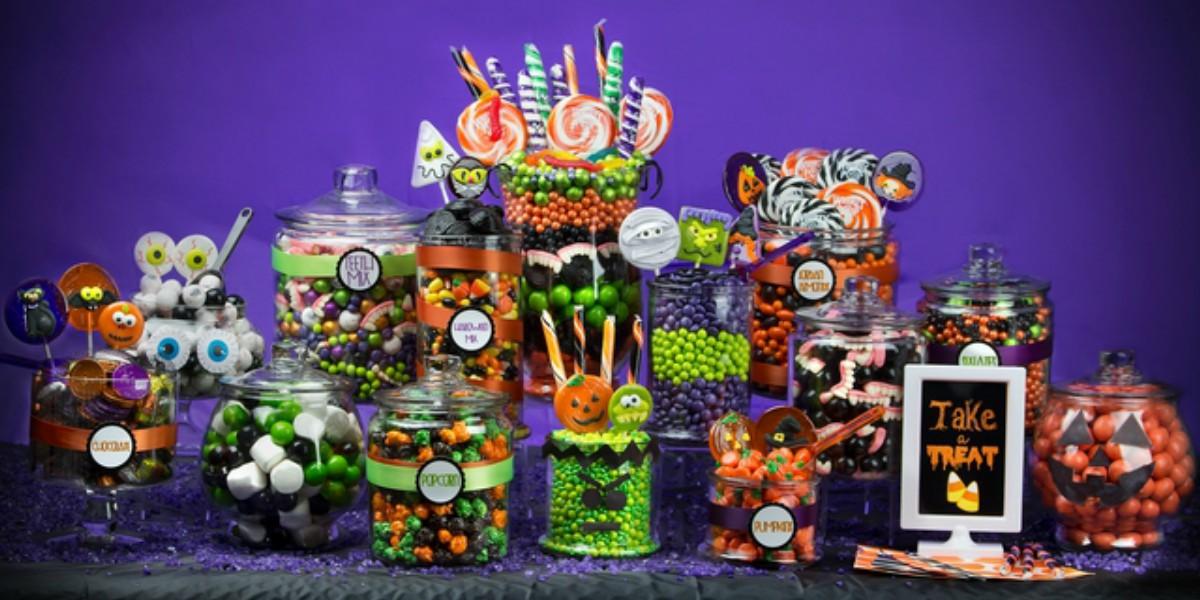 Esempio Halloween candy buffet