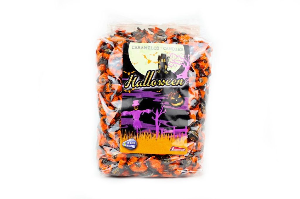 Dolciumi all'ingrosso Halloween per dolcetto scherzetto CARAMELLE INCARTATE SENZA GLUTINE
