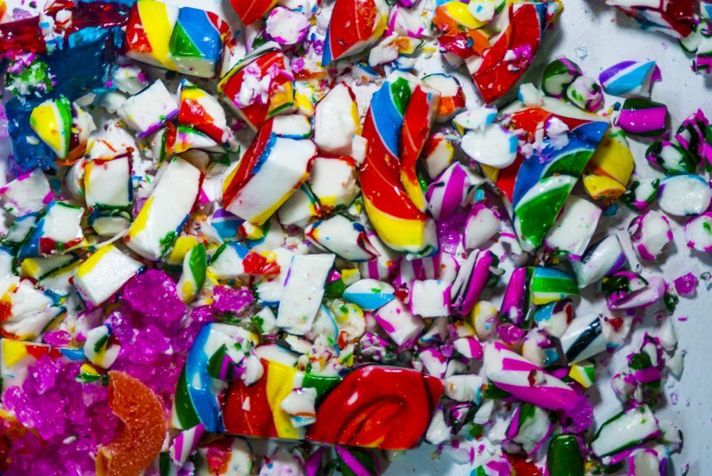 candy canes sbriciolati multicolor Rigato