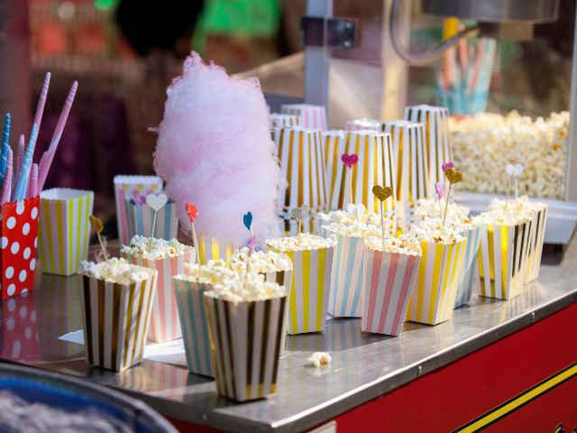 Candy pop corn bar