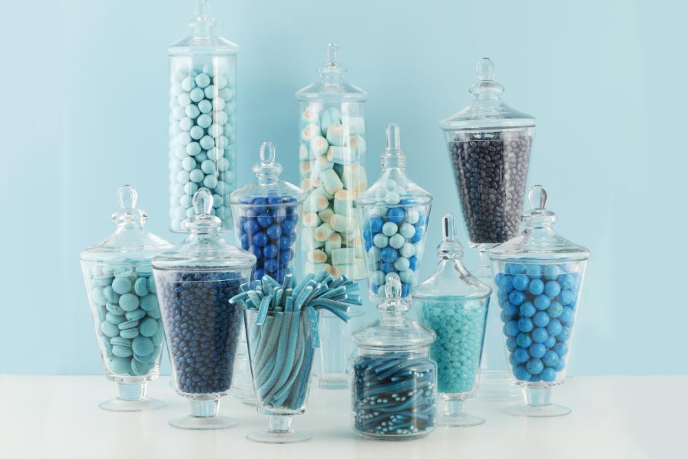dolciumi colore blu Rigato