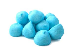 dolciumi colore blu e azzurro Rigato