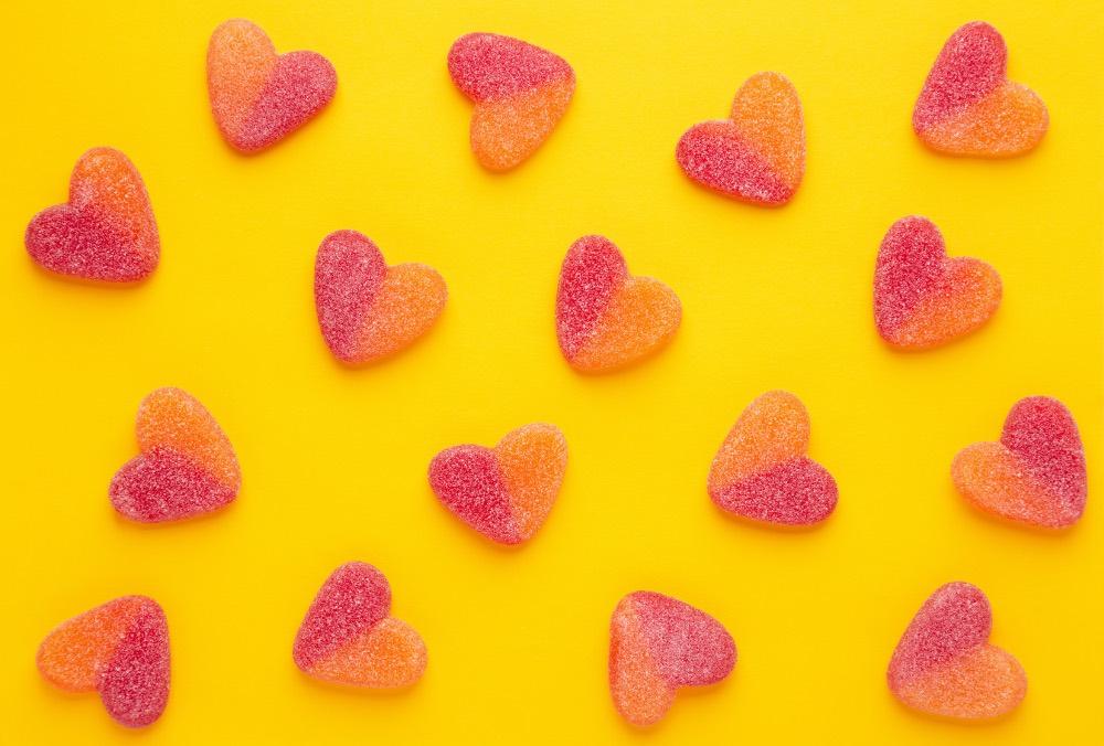 caramelle a cuore Rigato