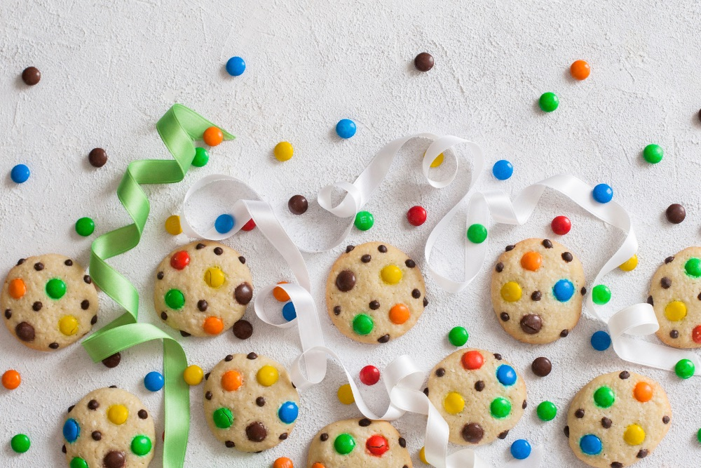 rainbow cookies carnevale Rigato