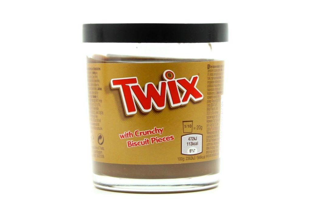 barattolo snack spalmabili twix spread rigato
