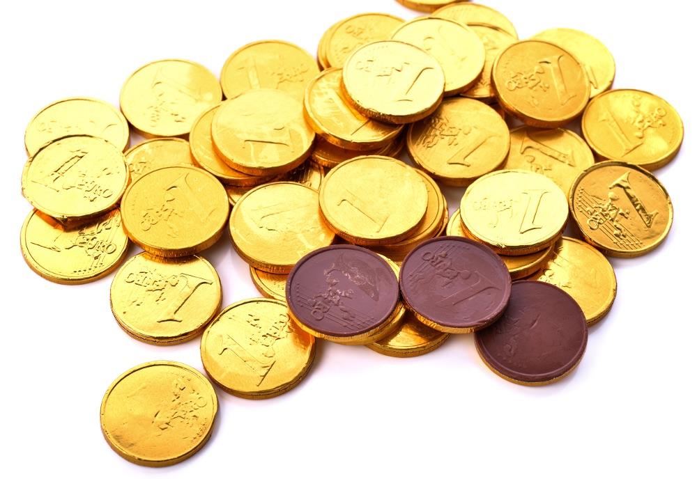 monete di cioccolato Rigato