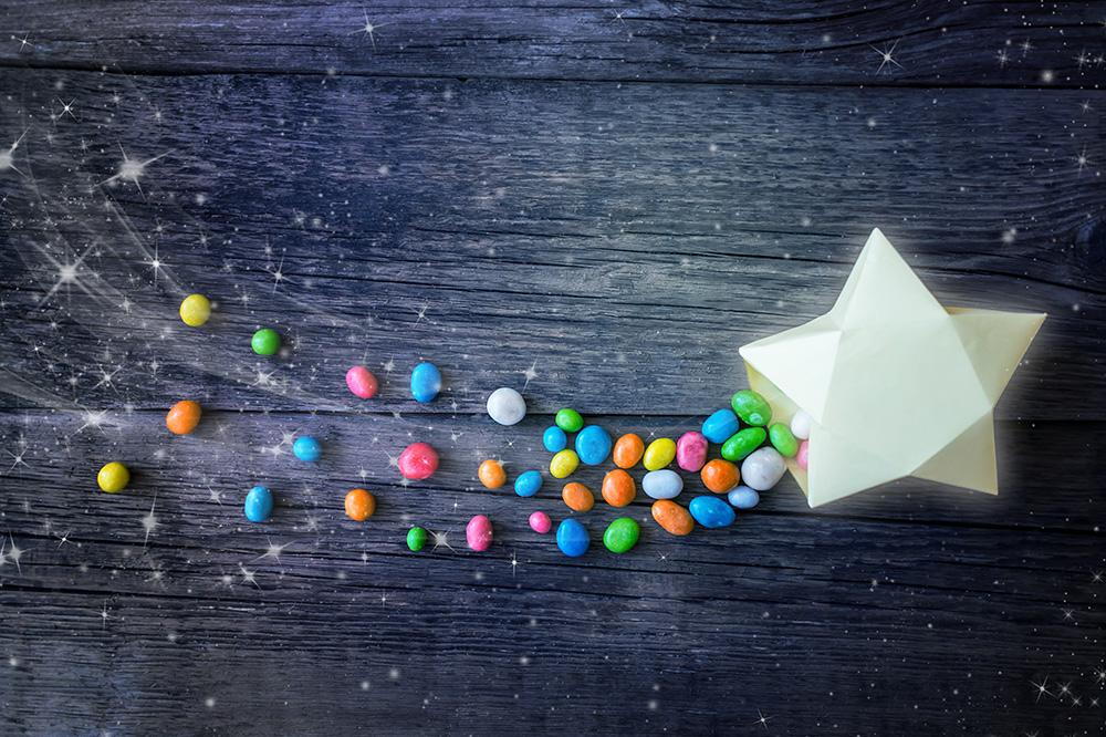 decorazioni caramelle colorate