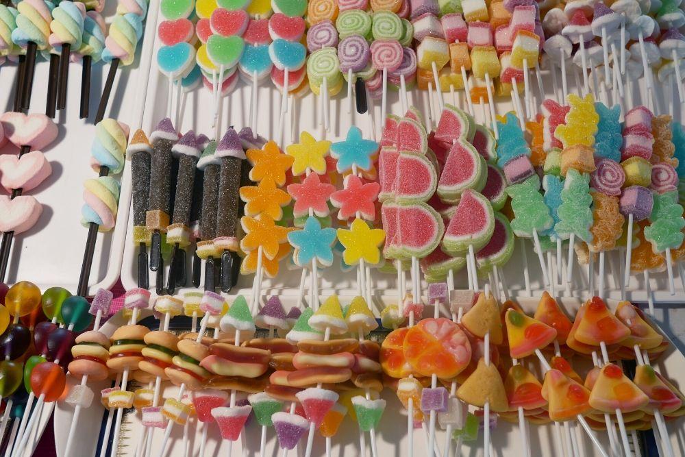 bastoncini per bouquet di caramelle festa della mamma