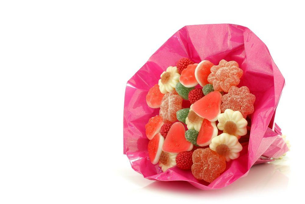 basi di polistirolo bouquet di caramelle festa della mamma