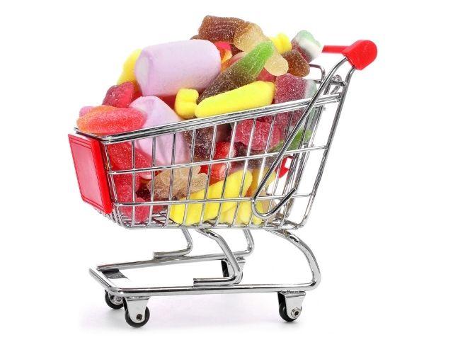 carrello della spesa top 4 caramelle e dolciumi free from e per intolleranze senza glutine - senza zucchero - senza lattosio - senza gelatine animali